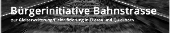 Bürgerinitiative Bahnstrasse, Screenschot Homepage